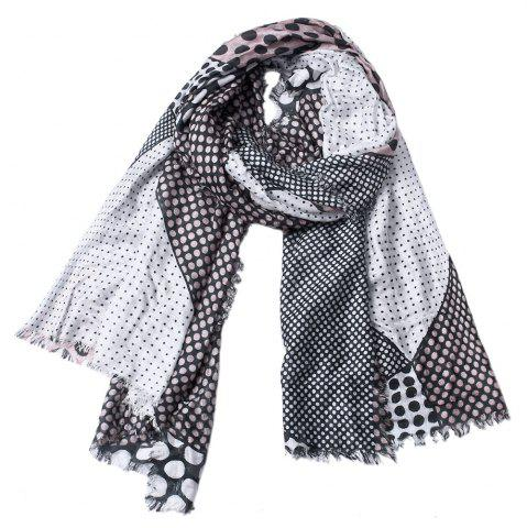 Outfit Women Dot Print Cotton Tassel Scarf Shawl