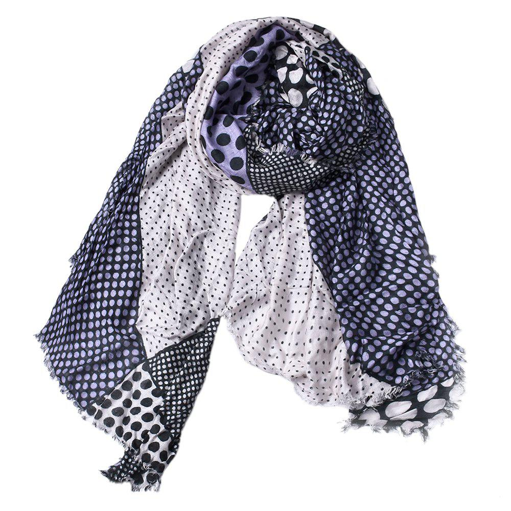 Best Women Dot Print Cotton Tassel Scarf Shawl