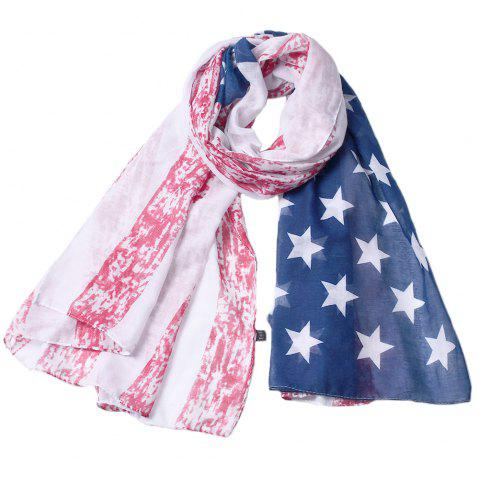 Affordable American National Flag Printed Fashion Viscose Scarf