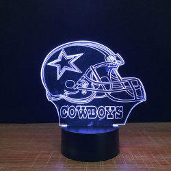3D Cowboys Touch Colors Changing LED Night Light -