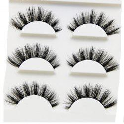 100% Handmade Real Mink Fur False Eyelash 3D Strip Mink Lashes 3PCS -