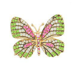 Colorful Rhinestone Lovely Butterfly Brooches -