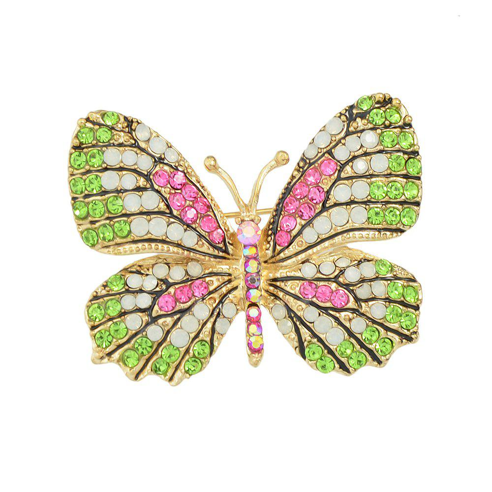 Unique Colorful Rhinestone Lovely Butterfly Brooches