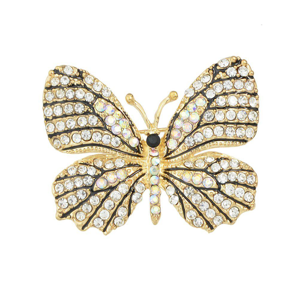 Cheap Colorful Rhinestone Lovely Butterfly Brooches