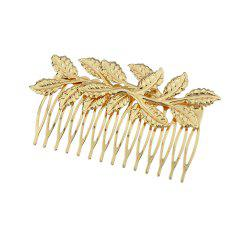 Fashion Individual the Gold-color Leaf Hair Combs -