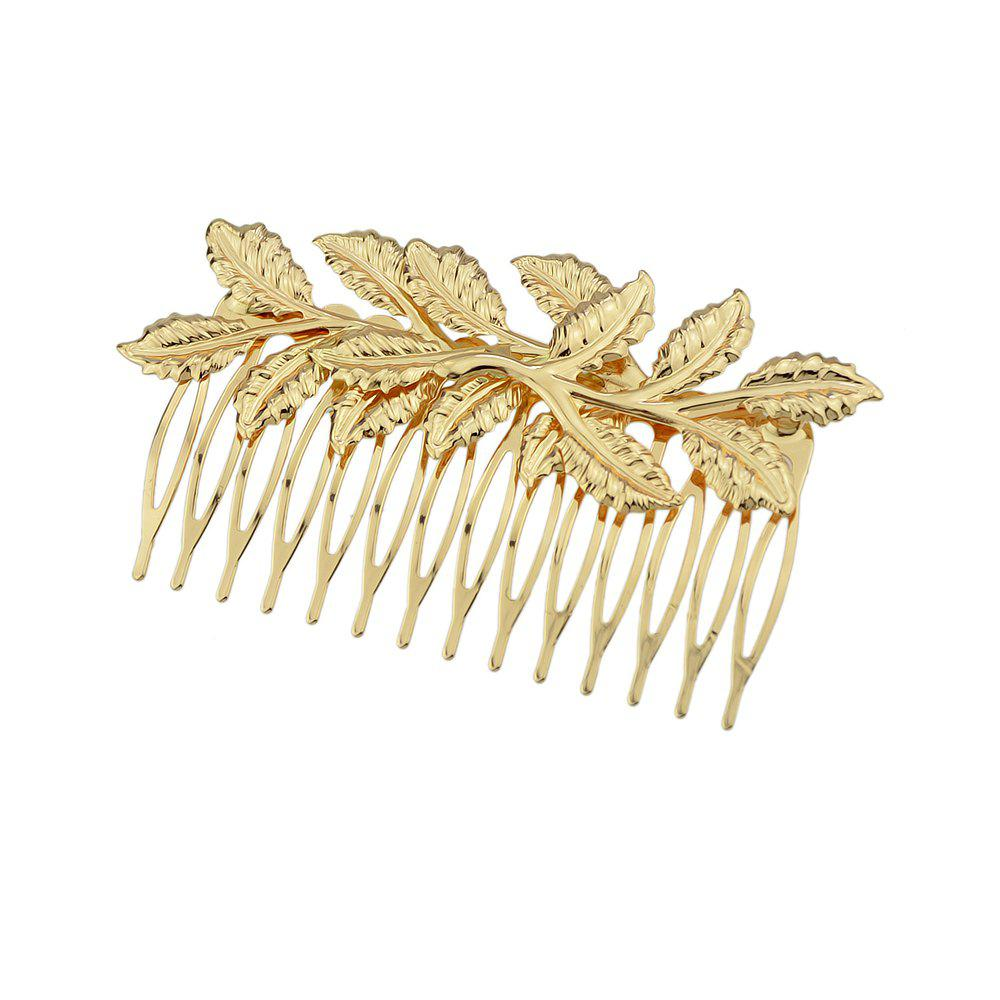 Best Fashion Individual the Gold-color Leaf Hair Combs