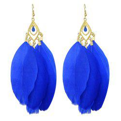Feather Vintage Colorful Individual Drop Earrings -