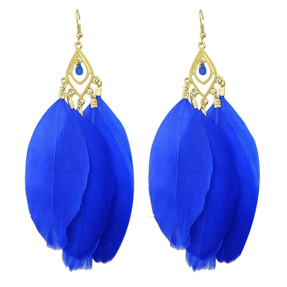 Cheap Feather Vintage Colorful Individual Drop Earrings