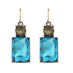 Colorful Crystal Square Female Drop Earrings -