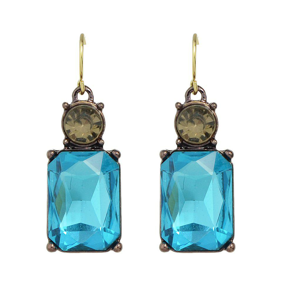 Best Colorful Crystal Square Female Drop Earrings