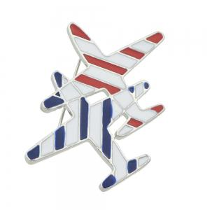 Lovely Enamel Aircraft Brooches Pins for Fashion Lady -