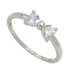 Fashion Flash Drill Gemstone Bow Ring for Women -
