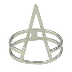 Minimalism Punk Gold Silver Color Metal Geometry Ring -