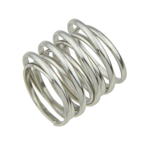 Store Minimalism Texture Multilayered Female Ring