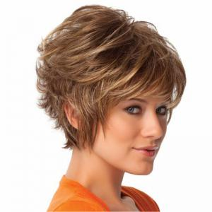 Golden Fluffy Micro Curly Short Wig -