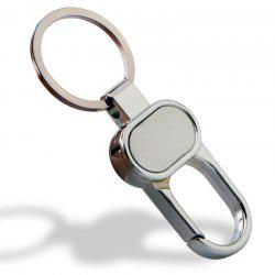 European and American High Quality Zinc Alloy Double Ring Keychain -