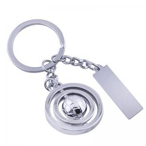 European and American Creative Rotating Ball Tag Keychain -