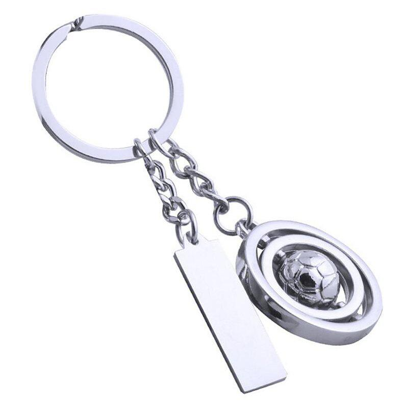 Affordable European and American Creative Rotating Ball Tag Keychain