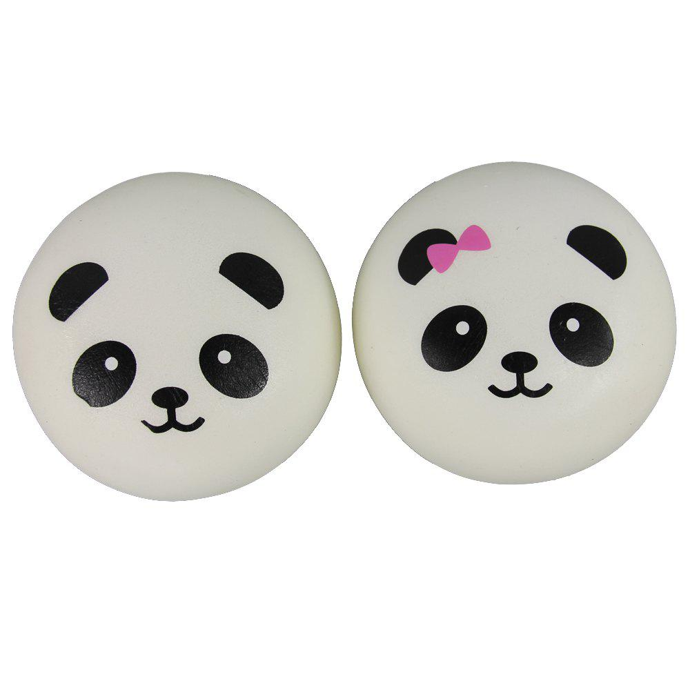 New Two Pack of Jumbo Squishy Panda Steamed Bread Relieve Stress Toys