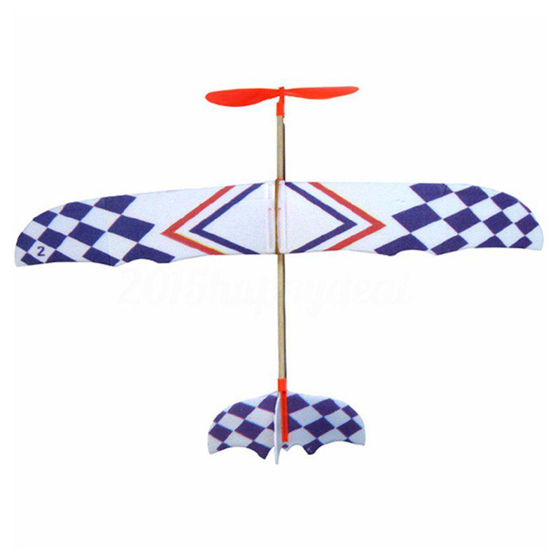 Fancy Rubber Band Powered Airplane Model for Teenager