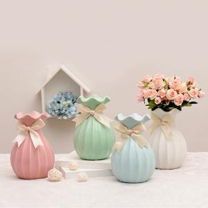European Home Crafts Ornaments Dried Flower Ceramic Vase -