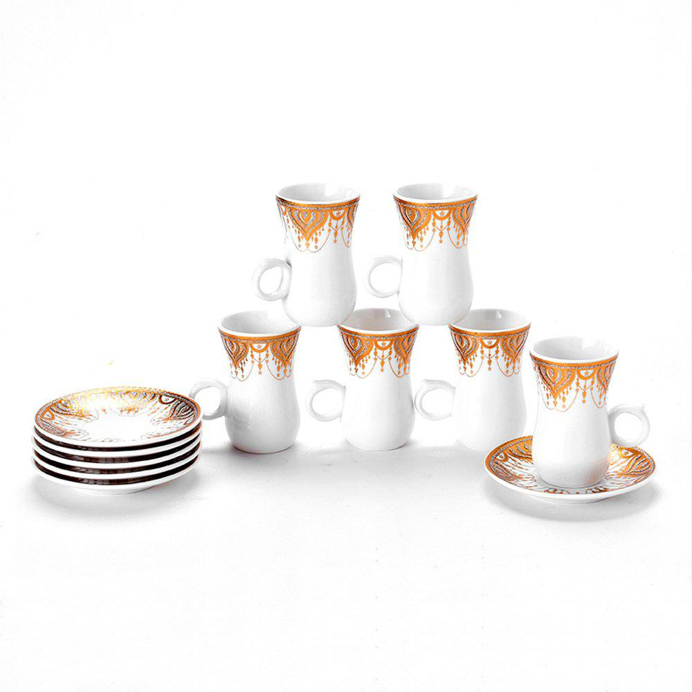 Fashion Household Simple Spoon Ceramic Coffee Cup Set