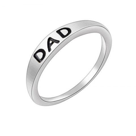 Discount Stylish Minimalist Letter Mother's and Father's Day Gift Ring