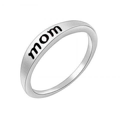 Best Stylish Minimalist Letter Mother's and Father's Day Gift Ring