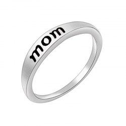 Stylish Minimalist Letter Mother's and Father's Day Gift Ring -