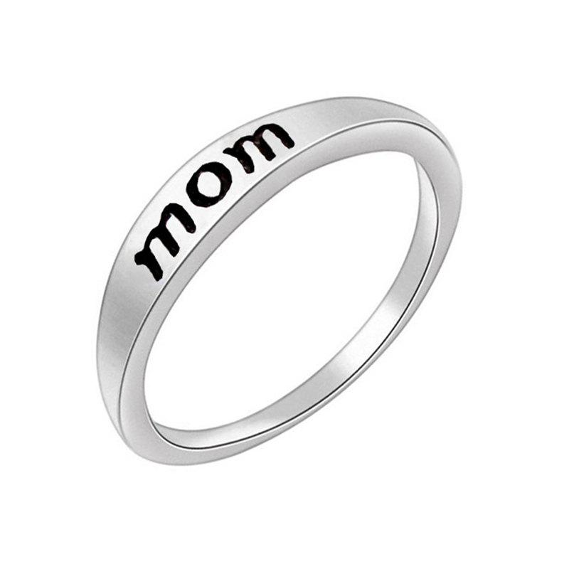 Cheap Stylish Minimalist Letter Mother's and Father's Day Gift Ring