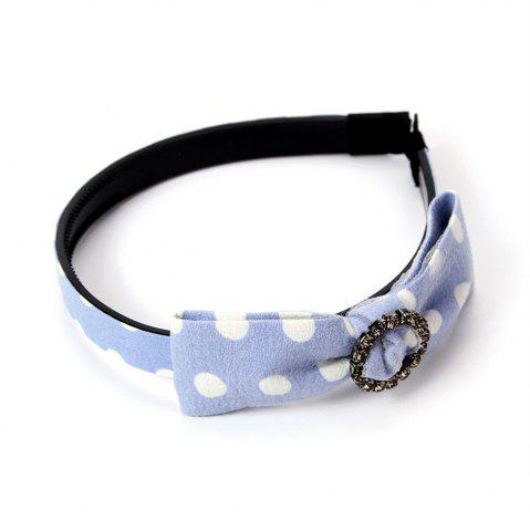 Best White Spot Yarn Butterfly Ribbon Drilled Female Hoop Hairband