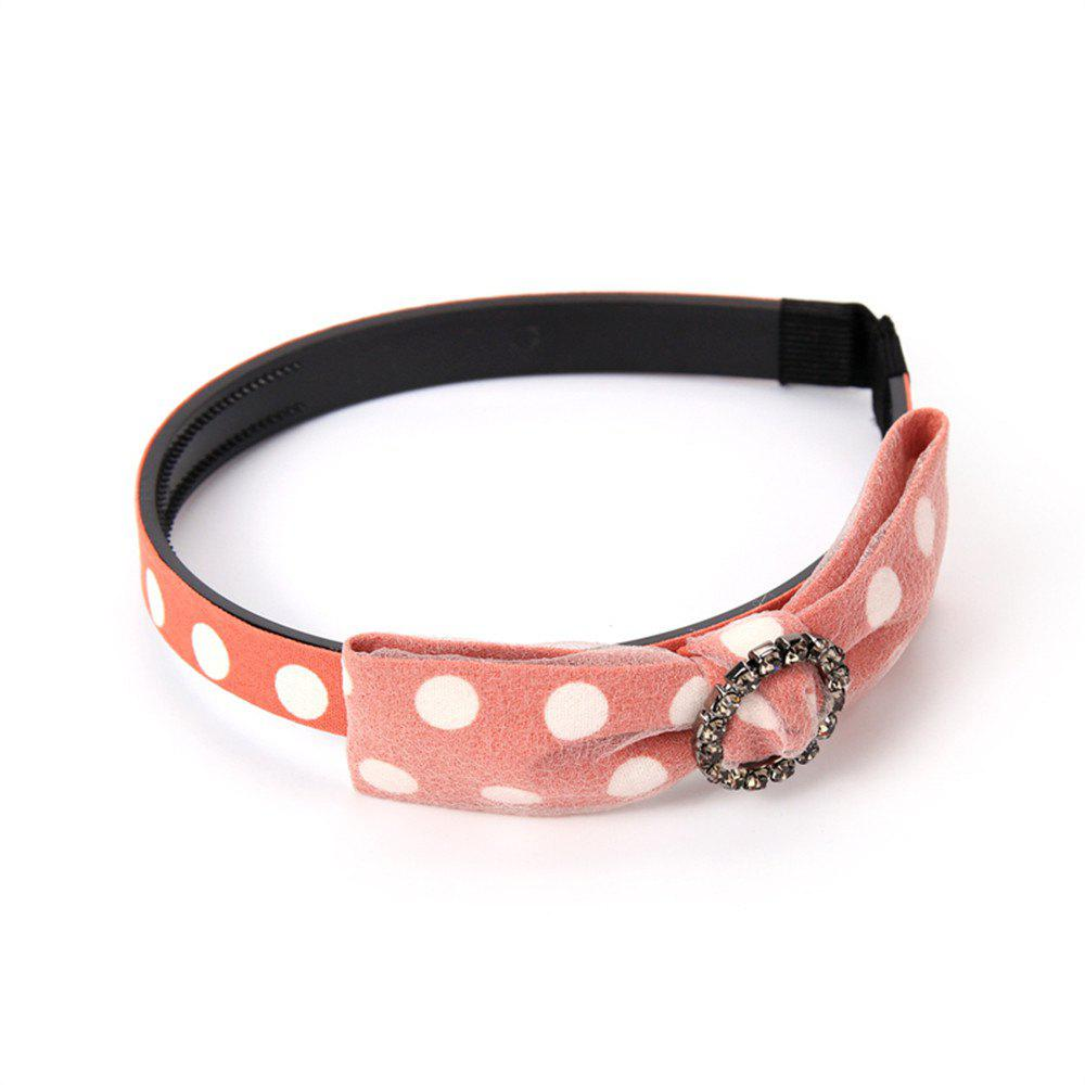 Outfits White Spot Yarn Butterfly Ribbon Drilled Female Hoop Hairband