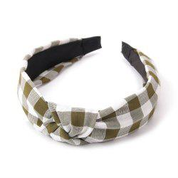 Fashion Students Cross Knot Small Grid Hoops Hairband -