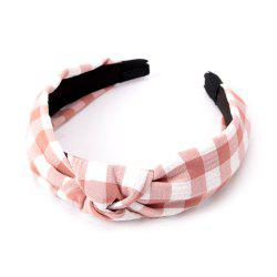 Étudiants de la mode Cross Knot Small Grid Hoops Hairband -