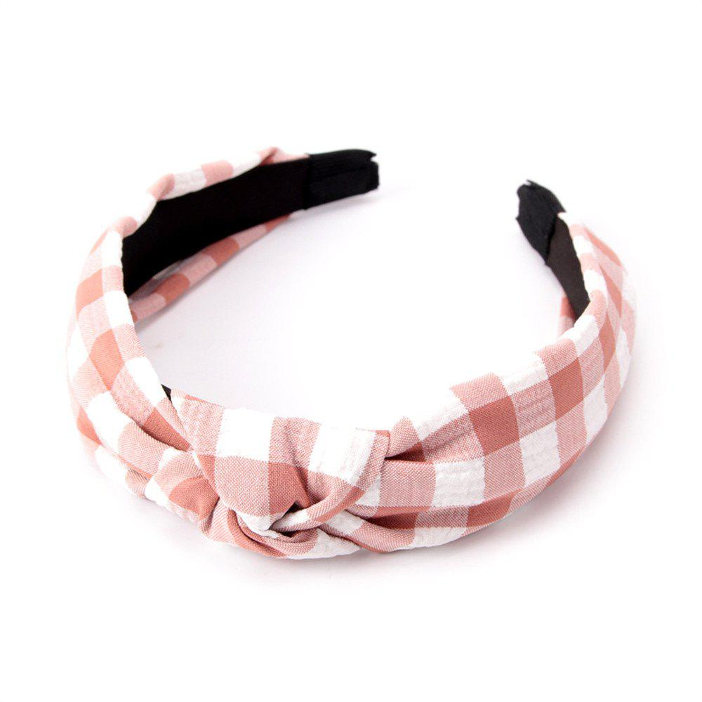 Étudiants de la mode Cross Knot Small Grid Hoops Hairband