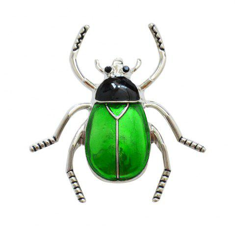 Unique Enamel Beetle Brooch Fashion Animal Insect Pin for Women Coat Accessory