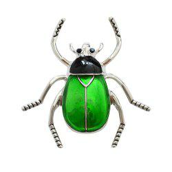 Enamel Beetle Brooch Fashion Animal Insect Pin for Women Coat Accessory -