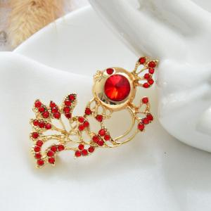 New Arrival Rhinestone Goldfish Brooch Pin for Women Clothes Jewelry Gift -