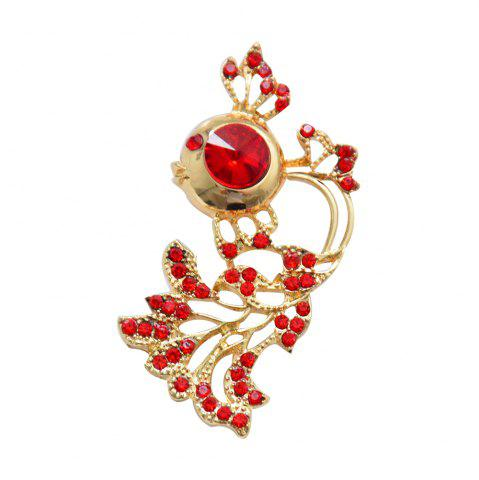 Best New Arrival Rhinestone Goldfish Brooch Pin for Women Clothes Jewelry Gift