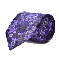Fashion Men Necktie Fine Embroidery Flowers Casual Business Tie -