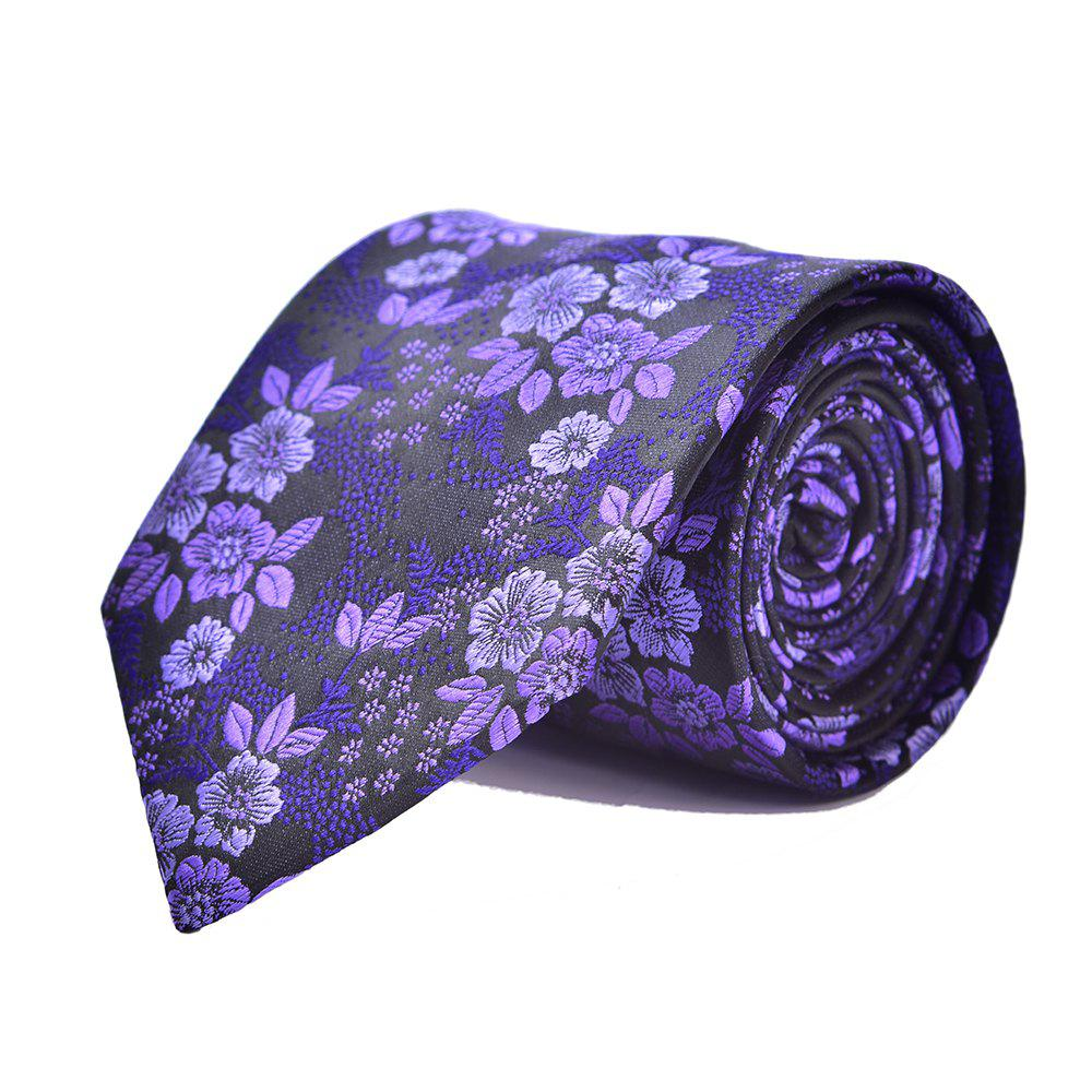 Mode Hommes Cravate Fine Broderie Fleurs Casual Business Tie