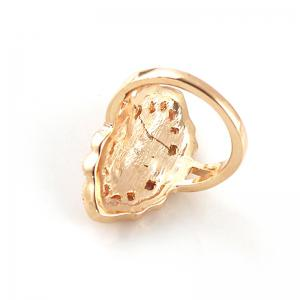 Metal Geometry with Rhinestone and Imitation Stones Ring -
