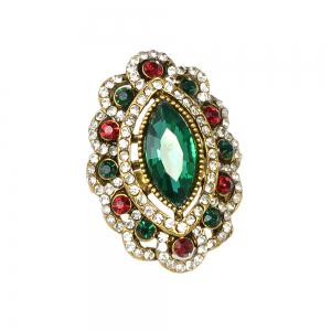 Vintage Style Luxury Rhinestone and Stone Ring for Women -