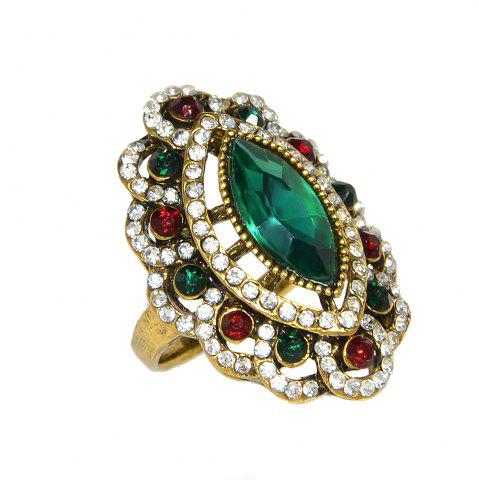 Affordable Vintage Style Luxury Rhinestone and Stone Ring for Women