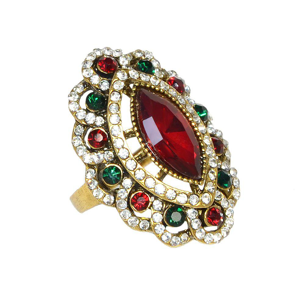 Cheap Vintage Style Luxury Rhinestone and Stone Ring for Women