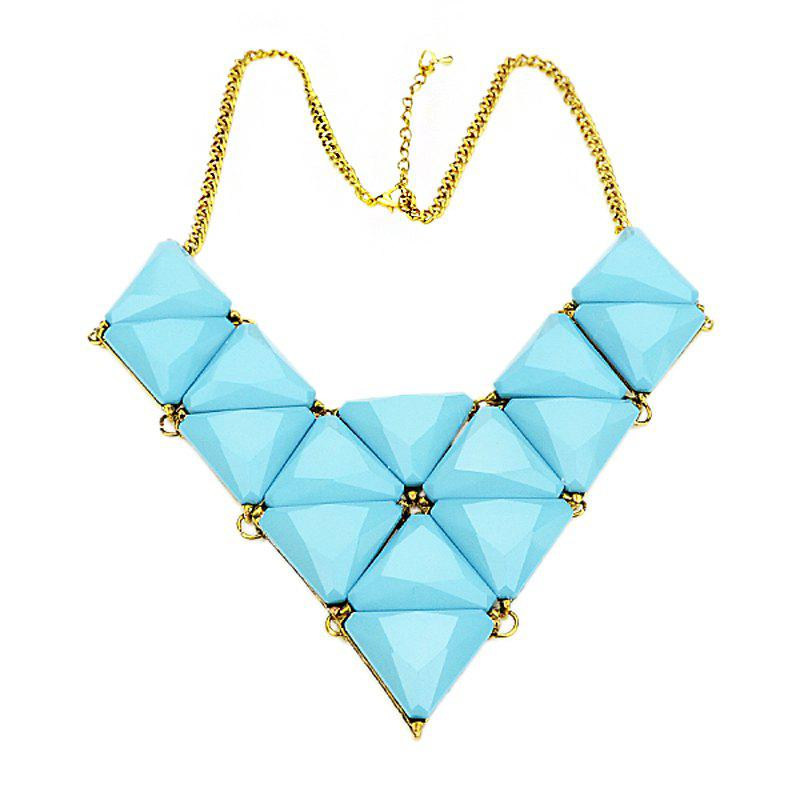 Online Triangular Splice Geometric Pendant Necklace