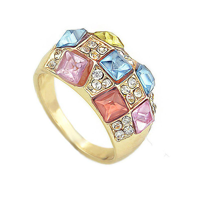 Latest Fashion Colorful Gemstones Full Drilled Female Ring