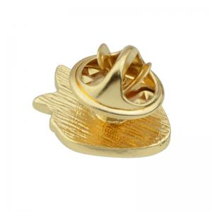 Gold-color with Green Red Strawberry Shape Brooch Pins -