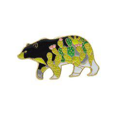 Cute Colorful Enamel Bear Animal Shape Brooch Pin -