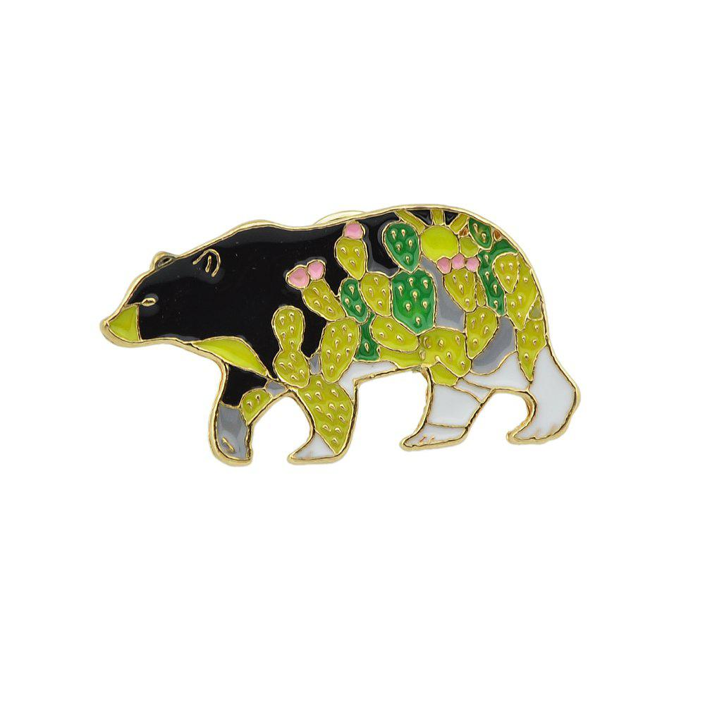 Latest Cute Colorful Enamel Bear Animal Shape Brooch Pin